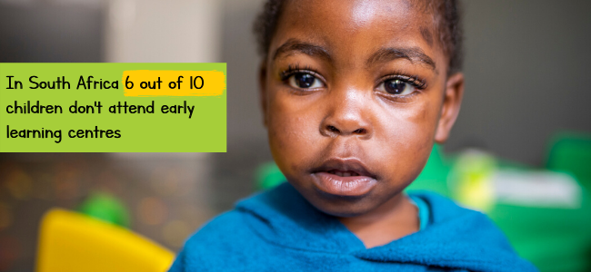 ECD 6 out of 10 children don't attend ECD